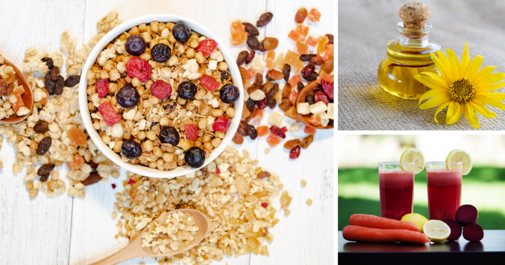 ビタミンEが豊富な食べ物(シリアル・植物オイルなど)